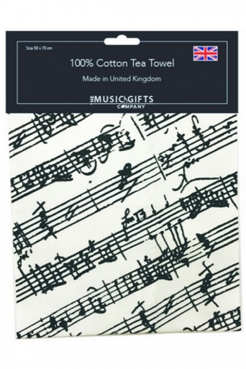 Black & White Manuscript Tea Towel