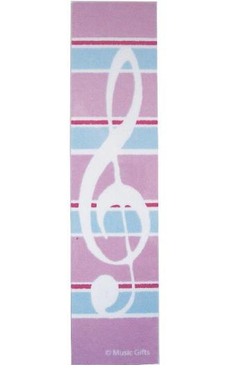 Clef & Stripes Pink Bookmark