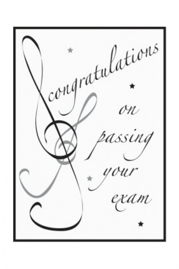 Greetings Cards Congratulations On Passing Your Exam Blank Inside