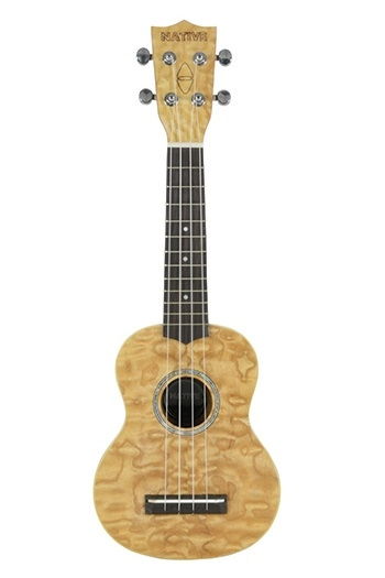 Native Curly Ash Soprano Ukulele