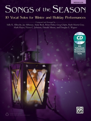 Songs Of The Season: 10 Vocal Solos For Winter & Holiday Medium Low Book & Cd