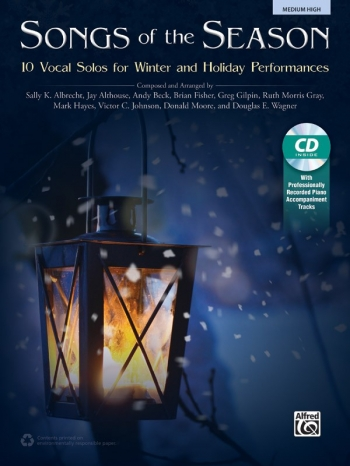 Songs Of The Season: 10 Vocal Solos For Winter & Holiday Medium High Book & Cd