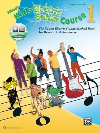 Alfred Kids Electric Guitar Course: Book 1: Book & Audio Access Ages 5 And Up
