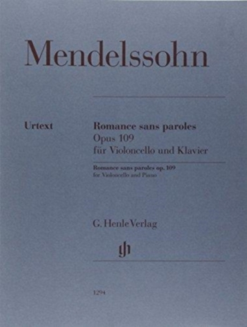 Romance Sans Paroles, Op. 109: Cello & Piano (Henle)