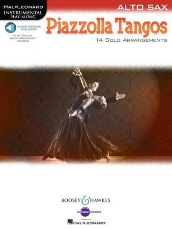 Piazzolla Tangos Alto Saxophone: 14 Solo Arrangements Book  Book & Audio Download