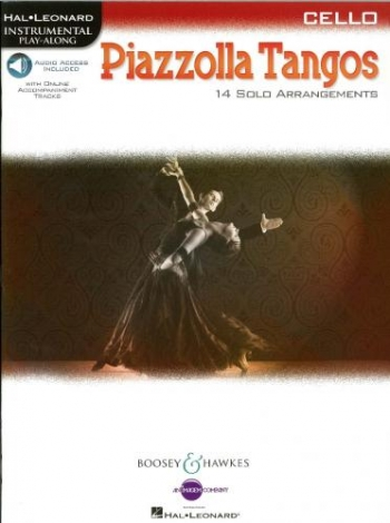 Piazzolla Tangos Cello: 14 Solo Arrangements Book  Book & Audio Download