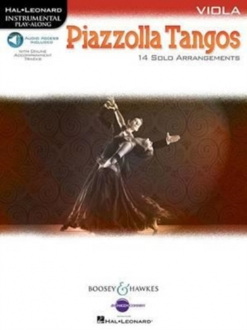 Piazzolla Tangos Viola: 14 Solo Arrangements Book  Book & Audio Download