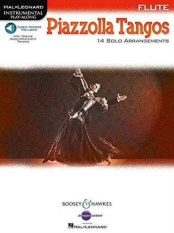 Piazzolla Tangos Flute: 14 Solo Arrangements Book  Book & Audio Download