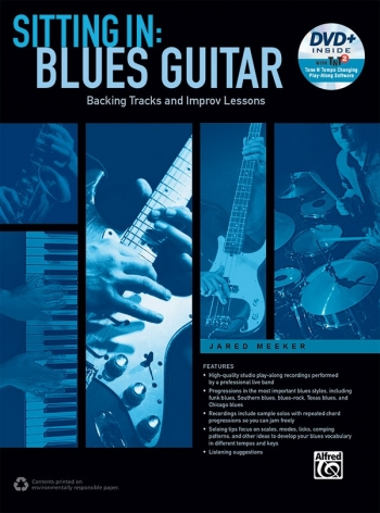 Sitting In: Blues Guitar: Book & DVD-ROM Jared Meeker