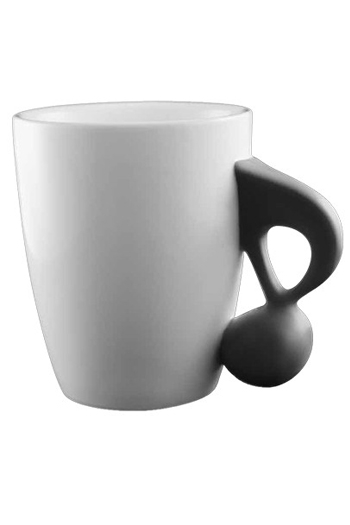 Music Mug With Black Quaver Handle