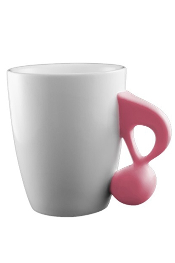 Music Mug With Pink Quaver Handle