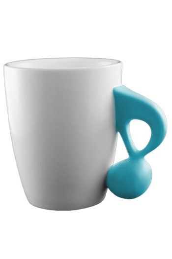 Music Mug With Blue Quaver Handle