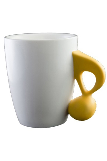 Music Mug With Yellow Quaver Handle