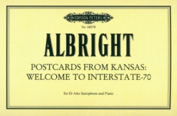 Postcard From Kansas Welcome To Interstate-70: Alto Sax 10 Separate Postcards (8 With Musi