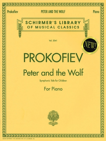Peter And The Wolf  Piano (Schirmer)