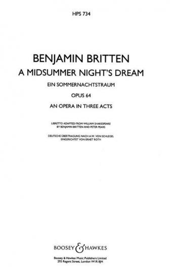 Midsummer Nights Dream: Study Score