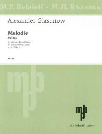 Melody D Major Op.20/1 Cello & Piano (Belaieff)