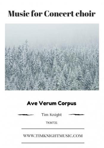 Ave Verum Corpus: SATB: Vocal And Piano
