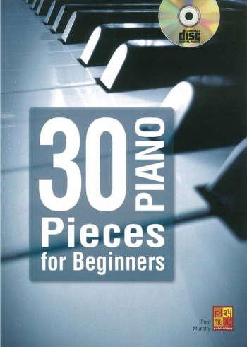 30 Piano Pieces For Beginners Book & CD