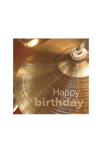 Square Greeting Card: Cymbal Happy Birthday
