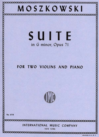 Suite Op.71  For 2 Violins & Piano (International)
