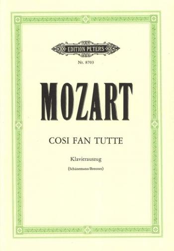 Cosi Van Tutti: German/Italian: Vocal Score (Peters)