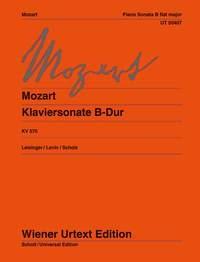 Piano Sonata  Bb Major  KV570  (Wiener Urtext)