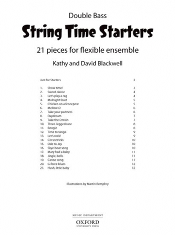 String Time Starters Double Bas Pupils Book: 21 Pieces For Flexible Ensemble (Blackwells)