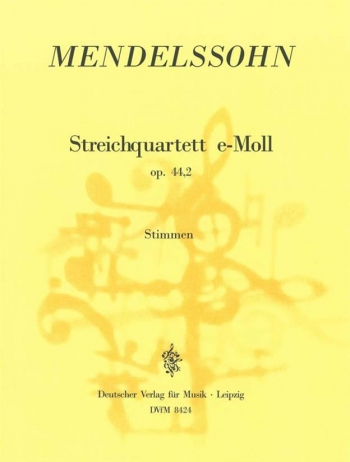 String Quartet Op.44/2 Score & Parts (Breitkopf)