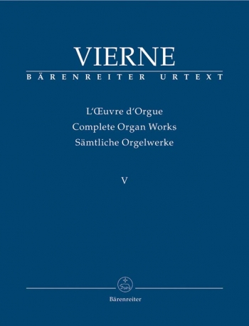 Complete Organ Works Vol 5  (Barenreiter)