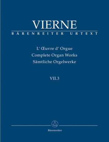 Complete Organ Works Vol 7/3  (Barenreiter)