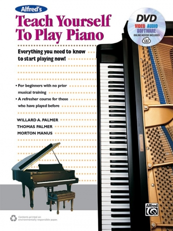 Alfred Teach Yourself To Play Piano Book & DVD (palmer)