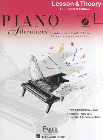 Piano Adventures: Lesson & Theory Book: All-In-Two: Level 1 Book & CD