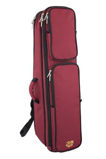 Trombone Case: Gig Bag: Shaped Burgundy