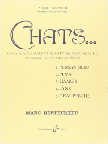 Chats Flute Quartet Set (Score & Parts)