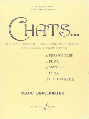 Chats Flute Quartet Set Of Parts
