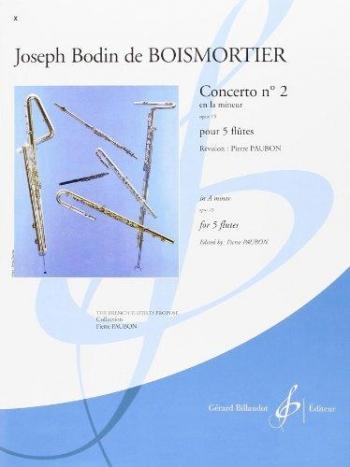 Concerto No.2 A Minor Opus 15 Flute Quintet (Billaudot)