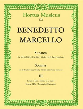 Sonatas From Op.2, Vol. 3: (No.6 C Maj; No.7 Bb Maj) Treble Recorder (Flute Or Violin)