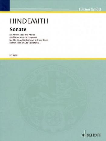 Sonata (1943) Tenor Horn Or Alto Sax & Piano (Schott)