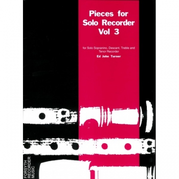 Pieces For Solo Recorder: Vol. 3