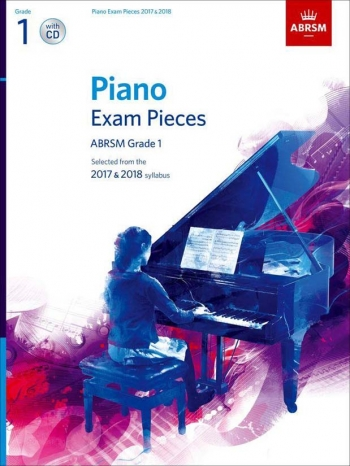 ABRSM Piano Exam Pieces 2017 & 2018 Grade 1 Book & CD