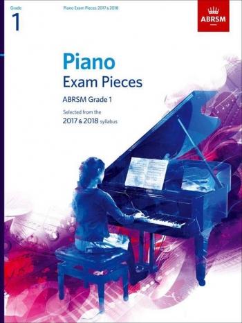 ABRSM Piano Exam Pieces 2017 & 2018 Grade 1 Book Only
