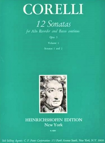 12 Sonatas In 6 Volumes  Op.5 Vol 2: Recorder & Piano (Heinrichshofen)