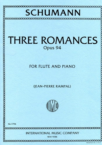 Three Romances Op94 Flute & Piano Three Romances Op94 Flute & Piano (International)