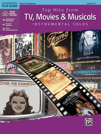 Top Hits From TV, Movies & Musicals Instrumental Solos For Tenor Sax Book & Cd