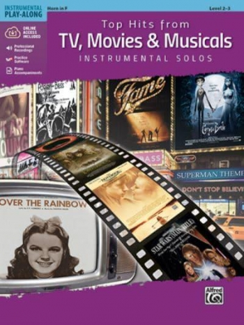 Top Hits From TV, Movies & Musicals Instrumental Solos For French Horn Book & Cd