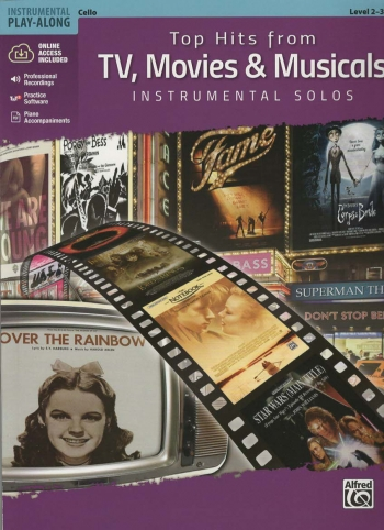 Top Hits From TV, Movies & Musicals Instrumental Solos For Cello Book & Cd