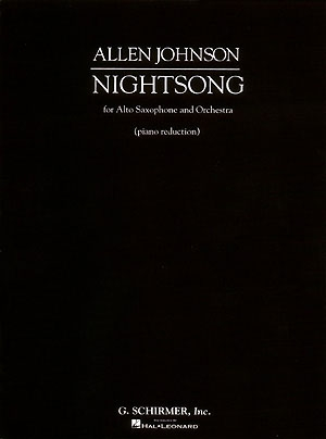 Nightsong For Alto Sax And Orchestra (Piano Reduction) (Schirmer)