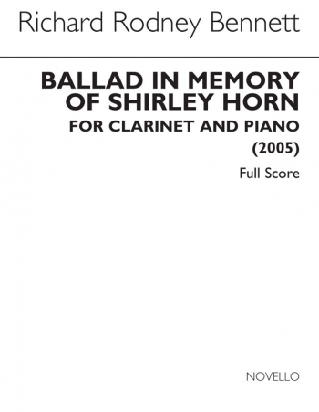 Ballad In Memory Of Shirley Horn  For Clarinet And Piano (Novello)