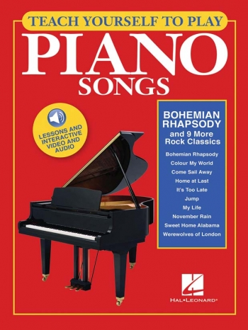 Teach Yourself To Play Piano Songs: Bohemian Rhapsody And 9 More Rock Classics Book & Onli